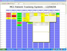 An example of an MCI Patient Tracking board.